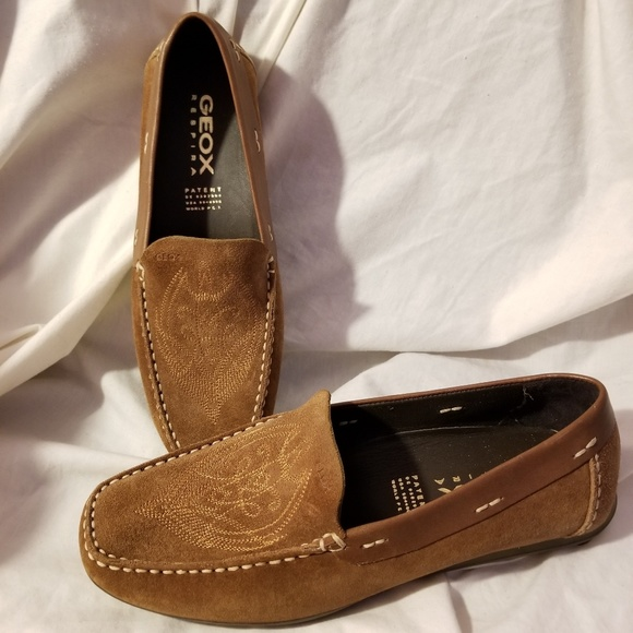 ebf043a5ad916 Geox Shoes | Respira Driving Moccasin 38758 Us Brown | Poshmark